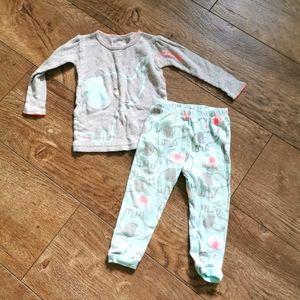 2/$20 child of mine pajama set 12 m